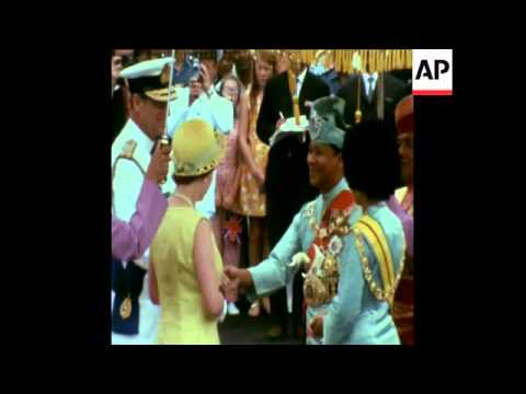 SYND 23/02/72 QUEEN ELIZABETH ARRIVES TO MALAYSIA FOR NINE DAY VISIT