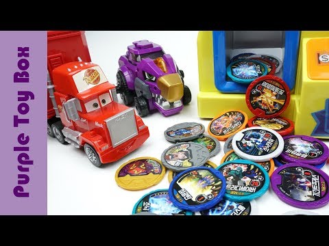 Thumbnail: Dinosuar Coin Crane Machine, Dino Core Disc And Tuner Toys