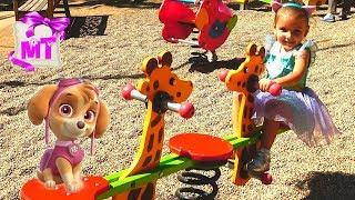 Площадка для детей Играем на классной площадке для детей