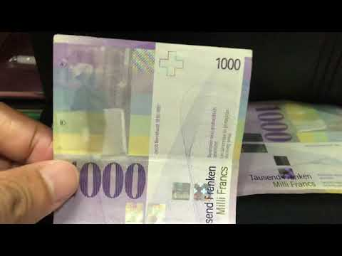 Banknotes 1,000 Of The Swiss Franc