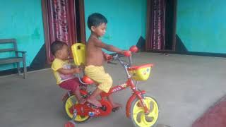 My son 2 cycle rest Arishma, Arshad