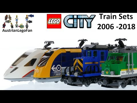Lego City Train Sets 2006 - 2018 Compilation - Lego Speed Build Review