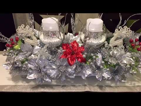 Dollar tree🌲DIY Centro de mesa navideño / Christmas centerpiece
