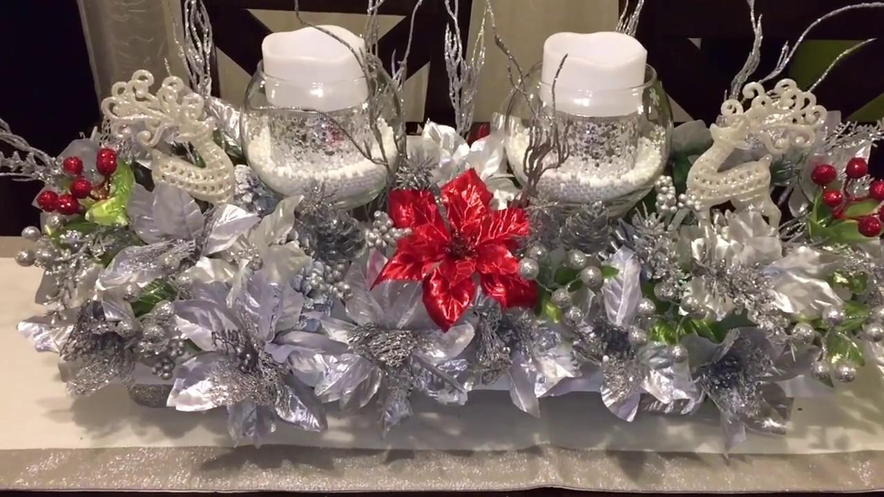 Dollar tree diy centro de mesa navide o christmas - Centro de mesa navideno ...