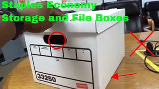 ✅  How To Use Staples Economy Storage and File Boxes Review