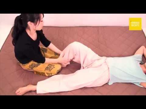 04下腿裏側・脚の前側のマッサージと鼠径部の圧迫