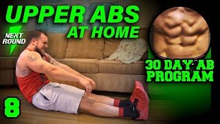 Upper Abs Workout At Home | 30 Days to Six Pack Abs for Beginner to Advanced Day 8