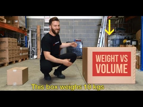 Weight vs volume: Chargeable weight explained!