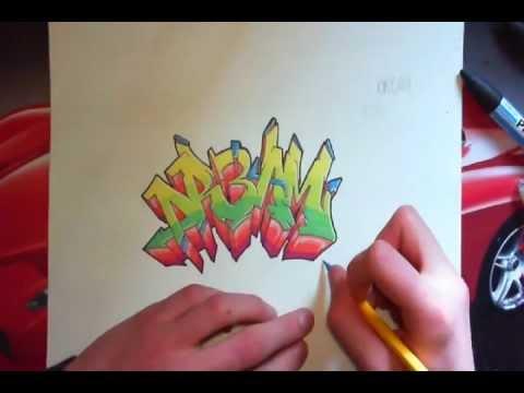 tutorial apprendre le graffiti sur papier partie 2 les couleurs youtube. Black Bedroom Furniture Sets. Home Design Ideas