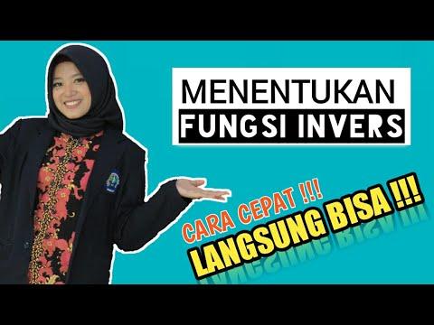 MENENTUKAN FUNGSI INVERS    MENGGUNAKAN CARA CEPAT !!!