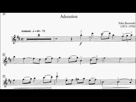 HKSMF 70th Violin 2018 Class 214 Grade 5 Borowski Adoration Sheet Music 校際音樂節
