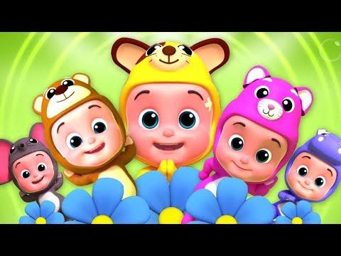 cinque piccoli bambini | canzoni per bambini | bambini rima | Five Little Babies | Baby Rhymes