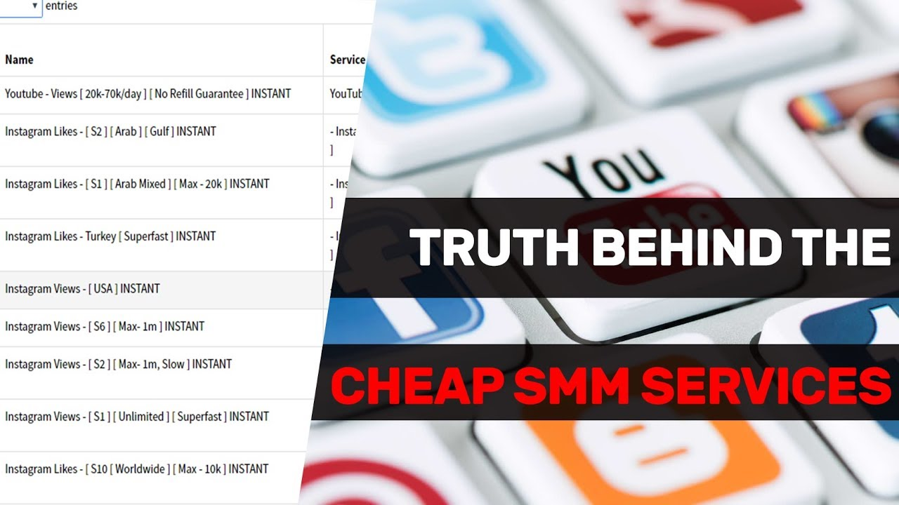 Truth Behind The Cheap SMM Services ( Exposed ) - How SMM Panels Work