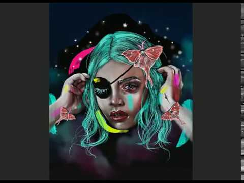 Digital Illustration Wacom Intuos - Actias Luna