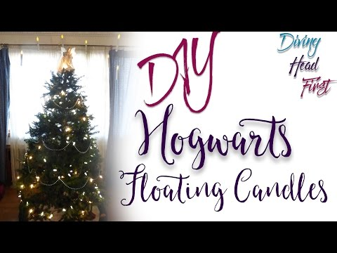 Hogwarts Floating Candles | DIY | Diving Head First
