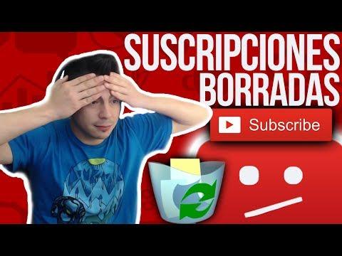 YOUTUBE me BORRA TODAS los SUSCRIPCIONES sin DECIRME NADA 😭⚠