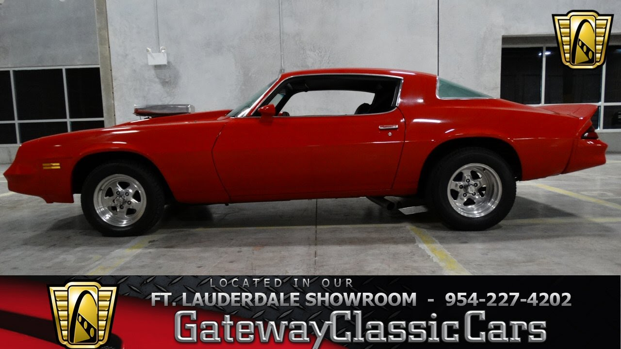 1979 chevrolet camaro gateway classic cars of fort lauderdale 8 youtube. Black Bedroom Furniture Sets. Home Design Ideas