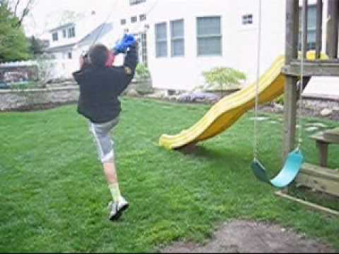 Clotheslining Inspiration Kid Gets Clotheslined By A Swing YouTube