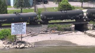 Canadian Pacific Oil Train as Seen From the Hudson River Walk