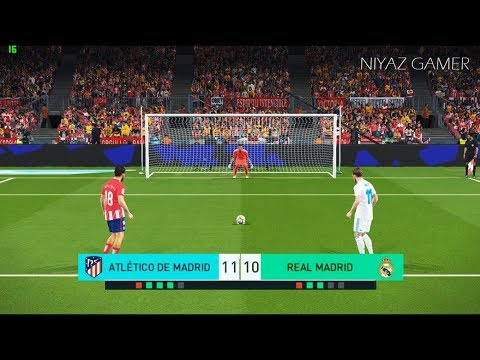 ATLETICO MADRID vs REAL MADRID | Penalty Shootout | PES 2018 Gameplay PC