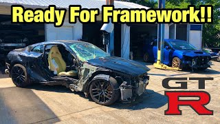 Rebuilding My Totaled Wrecked 2017 Nissan GTR Part 3 From Copart Salvage Auction