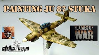 Painting JU 87 Stuka. Flames of War