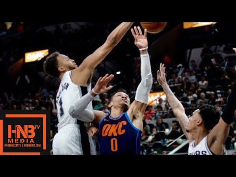 Oklahoma City Thunder vs San Antonio Spurs Full Game Highlights / March 29 / 2017-18 NBA Season