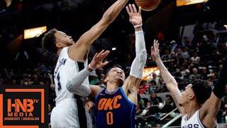 Oklahoma City Thunder vs San Antonio Spurs Full Game Highlights / March 29 / 2017-18 NBA Season