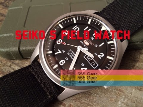 "Review: Seiko 5 Field Watch SNZG15J1 Military Automatic ""Outstanding $100 Wristwatch"""