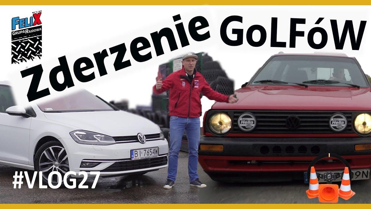VW GOLF 7 & VW GOLF 2 – Jak wyglądałby odcinek w 1988 r – #VLOG 27 Grupa Rajdowy Felix