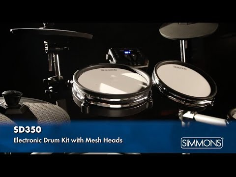 simmons sd350 electronic drum kit with mesh heads youtube. Black Bedroom Furniture Sets. Home Design Ideas