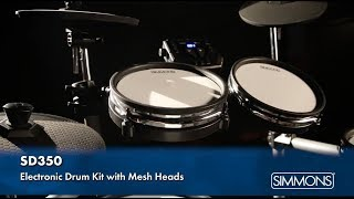 Simmons SD350 Electronic Drum Kit with Mesh Heads