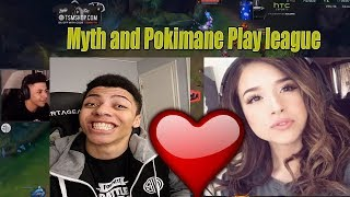 TSM MYTH PLAYS LEAGUE WITH POKIMANE | Poki Trolls Myth