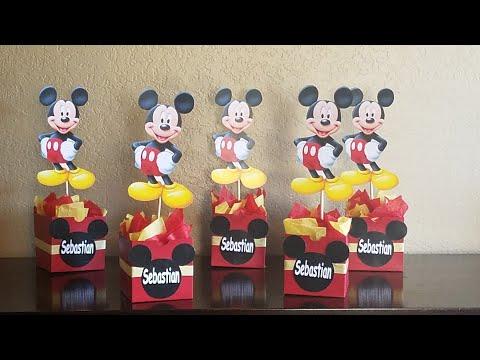 DIY Mickey Mouse Inspired Centerpieces// Centros De Mesas