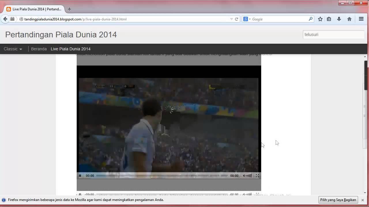 Cara Nonton Piala Dunia 2014 Online Gratis Youtube