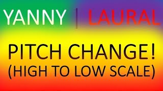 YANNY LAUREL PITCH CHANGE! SCALE OF HIGH TO LOW FREQUENCIES! HOW TO HEAR BOTH!