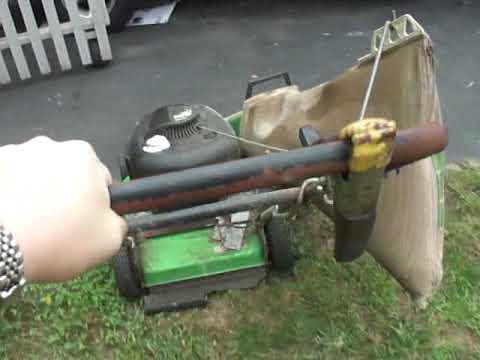 Lawn Boy Duraforce 6.5hp 2 cycle lawn mower model 10247 Engine and bagger.
