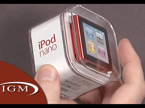 ipod nano 6th generation 6g product red hands on youtube. Black Bedroom Furniture Sets. Home Design Ideas