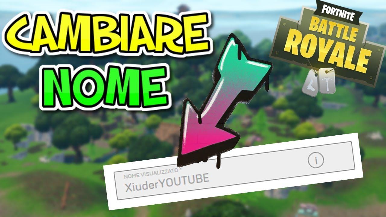 COME CAMBIARE NOME SU FORTNITE!!! HOW TO CHANGE NAME IN ...