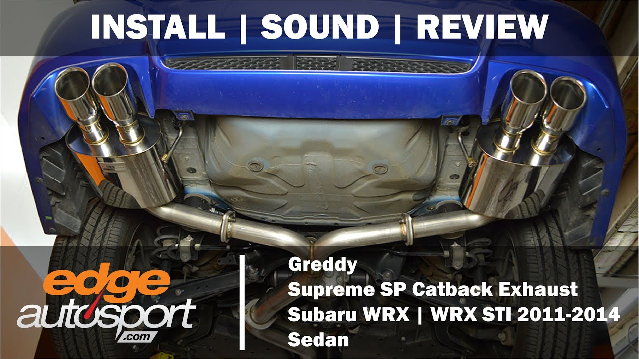 greddy catback exhaust subaru wrx sti 2011 2014 edgeautosport com