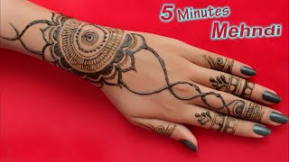 Easy and Fast Mehndi Design For Hand | Simple Mehndi Design