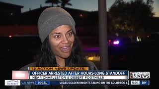 UPDATE: Las Vegas police officer arrested after barricade Tuesday morning