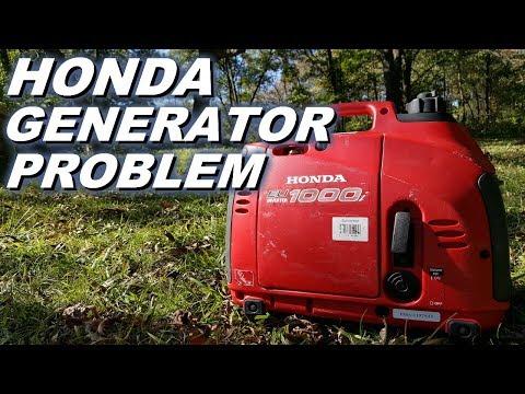 Honda generator idle problems.