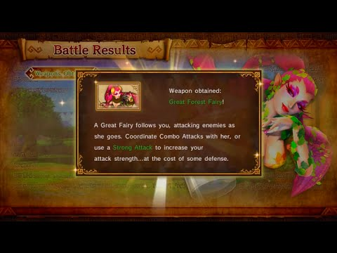 Hyrule Warriors Adventure Mode 73 G7 Link S Lvl 2 Great Forest Fairy Youtube