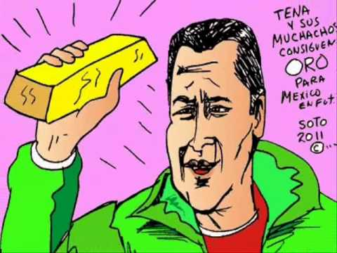 mexico gana oro panamericano en fut bol soto caricatura de luis fernando tena video carton
