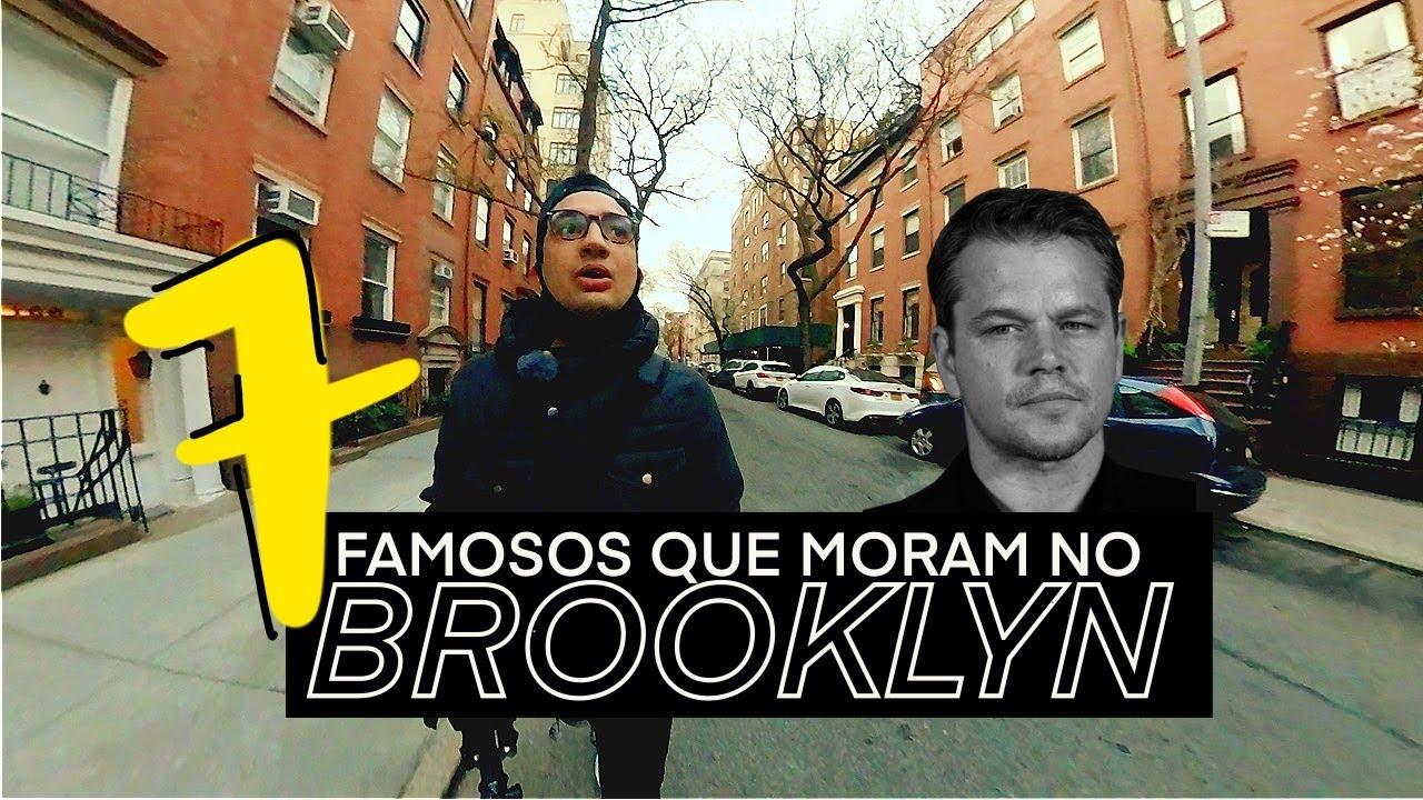 VEJO FAMOSOS TODO DIA EM NY ? | 7 Celebridades que moram no Brooklyn 🇺🇸