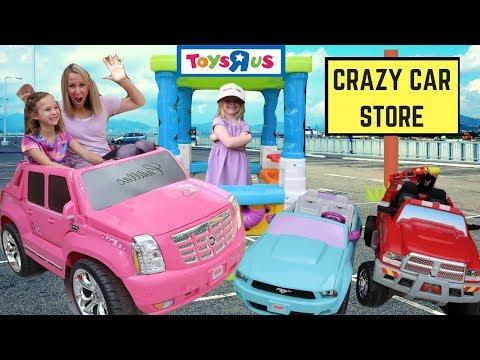 Crazy Car Store ~ Addy Runs Errands at Maya's Fake Toys R Us Drive Thru