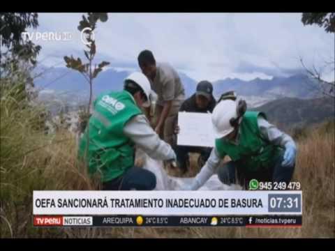 OEFA ayudará a municipios a mejorar gestión del tratamiento de la basura