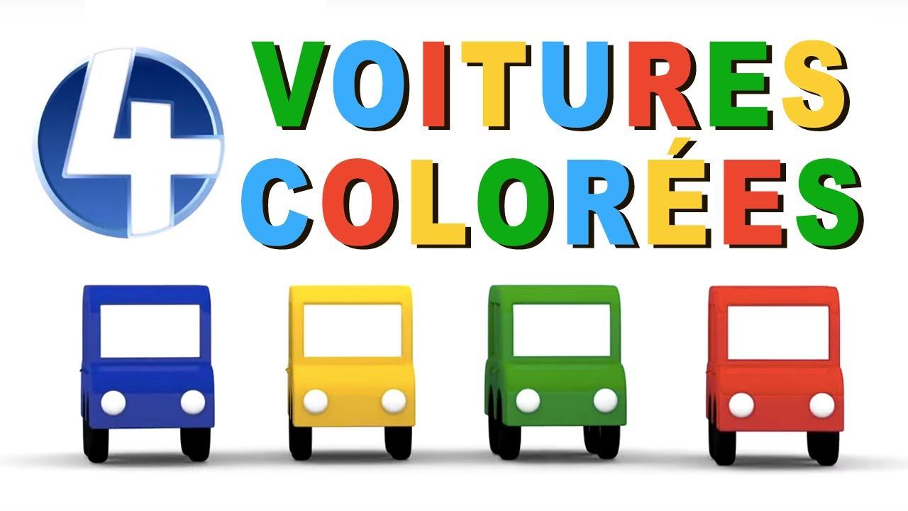 4 voitures colorees dessin anime en francais pour enfants 4 meilleurs episodes