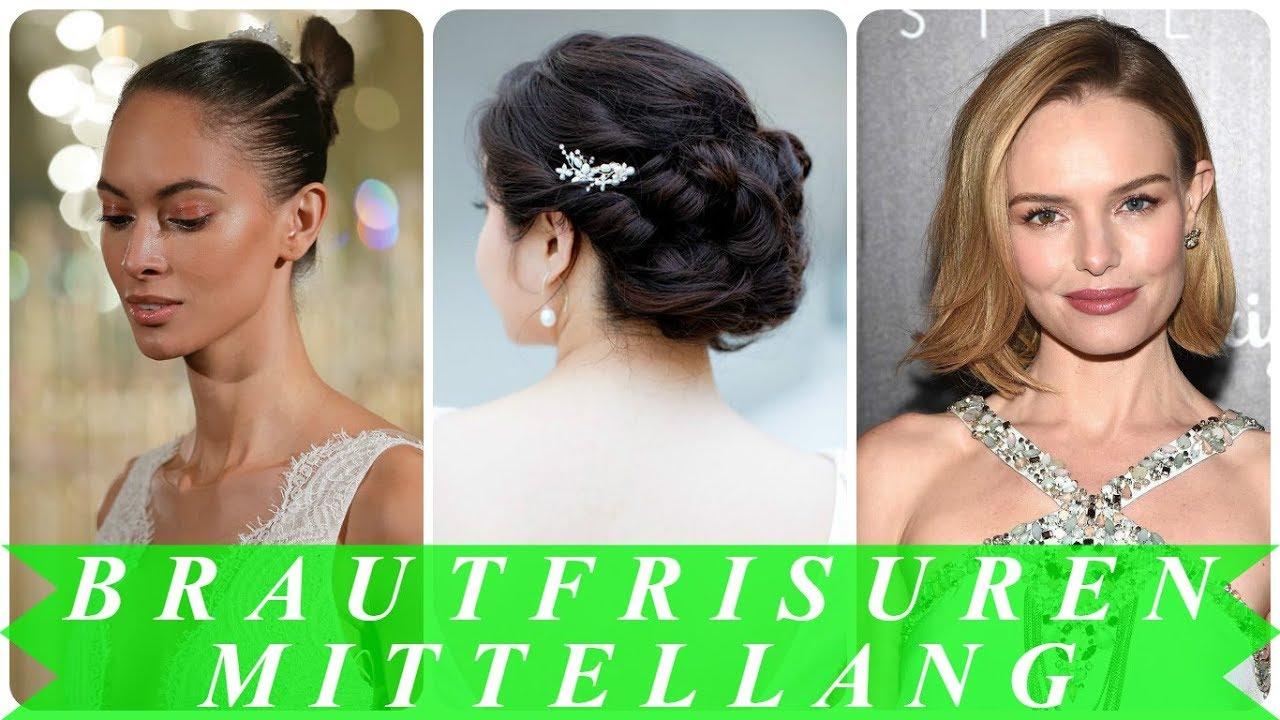 Beste Brautfrisur Schleier Mittellange Haare 2018 Youtube
